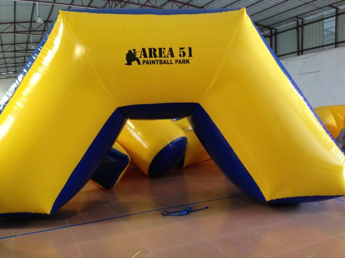 Outdoor Games Inflatable Paintball Bunkers 0.9mm Pvc Tarpaulin 5 X 2.5 X 1.25m