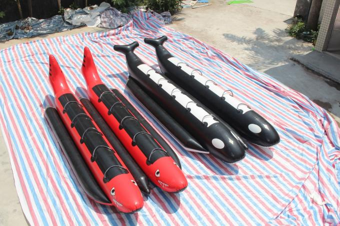 Interesting Inflatable Water Games , Customized Inflatable Banana Boat Double Row