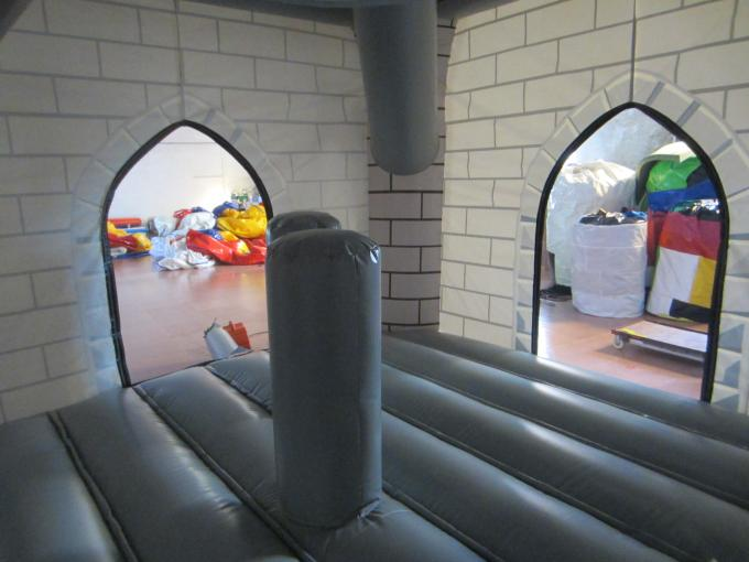 0.55mm PVC Tarpaulin Knight Themed Inflatable Castle Bouncer 12.9 X 8.3 X 3.2m