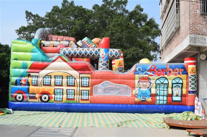 Building Themed Inflatable Fun City Simulate Construction Place Waterproof PVC Material