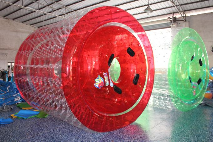Clear PVC Inflatable Water Games / Transparent Inflatable Rolling Tube
