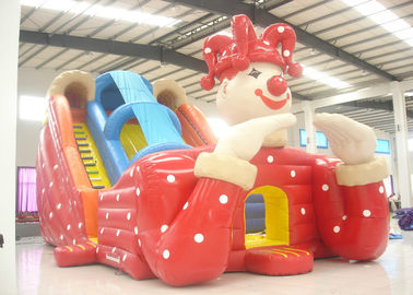 China Big clown cartoon inflatable slide - inflatable long slide with arch supplier