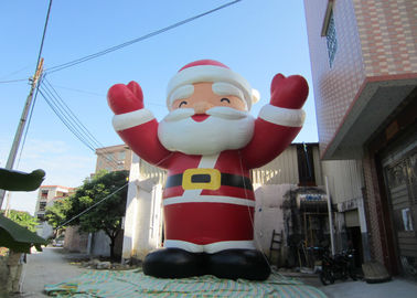 China Attractive Outdoor Inflatable Christmas Decorations Blow Up Santa Claus 8mH supplier