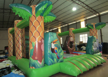 Square shape inflatable forest jump PVC inflatable bouncy beautiful printing inflatable bouncer house for sale