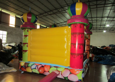 Small inflatable bouncer with net around / inflatable ball pool bouncer colourful inflatable mini balloon jumping house