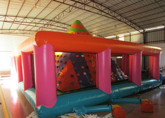 China Colourful Iceberg Floating Climbing Wall , Commercial Inflatable Rock Climbing Wall PVC inflatable climbing wall games supplier