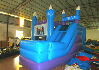 China Disney Forzen inflatable combo inflatable forzen bouncer plus slide princess combo supplier