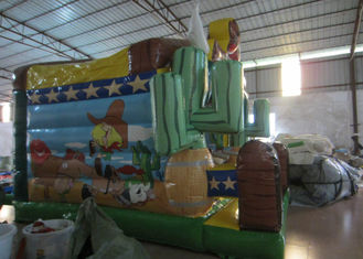Inflatable cowboy bouncy house Big size inflatable western cowboy jumping castle digital printing inflatable cowboy jump
