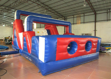 China Funny Sports Games Obstacle Course Bouncer , Indoor Playground Obstacle Bouncy Castle supplier