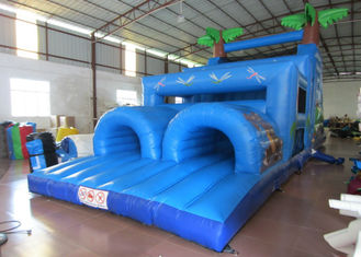 Inflatable Outdoor Obstacle Course Bounce House , Blow Up Obstacle Course 12 X 4 X 5m