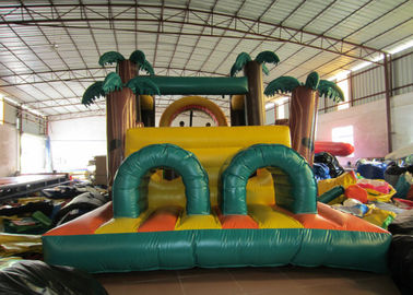China Attractive Palm Tree Inflatable Obstacle Courses 0.55mm Pvc Tarpaulin 12 X 4m supplier