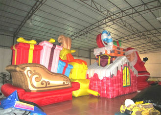 China Waterproof PVC Inflatable Christmas Decorations Strong Fabric Inflatable Santa Claus for decoration supplier