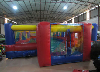 China Excieting Inflatable Soccer Court pitch Playground Safe Nontoxic PVC Inflatable Football Stadium supplier