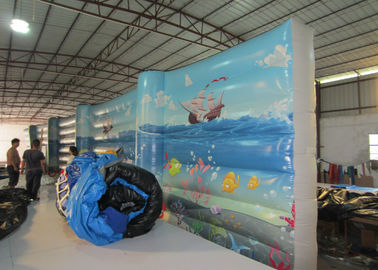 China Digital Paintingbounce House Indoor Playground , Undersea World Blow Up Playhouse supplier