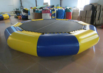 China Customized Jumping Floating Water Trampoline , Giant Water Trampoline Dia4m supplier