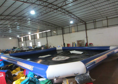 China Iinflatable Above Ground Pools For Adults , Blue Large Blow Up Pool 10 X 10m supplier