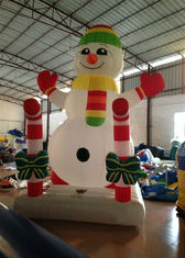 China Customized Holiday Inflatable Christmas Decorations Snowman 3.5 X 2.5 X 4m supplier