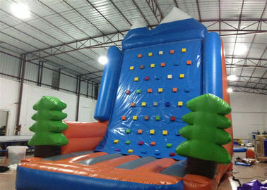 Amusement Park Inflatable Rock Climbing Wall Sports Games Straight inflatable climb wall with the pine trees