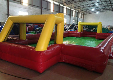 China Indoor small Inflatable Football Pitch red Inflatable football field for Kindergarten Baby supplier