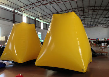 Outdoor Water Park Inflatable Paintball Bunkers 2 X 2 X 2.5m Enviroment - Friendly