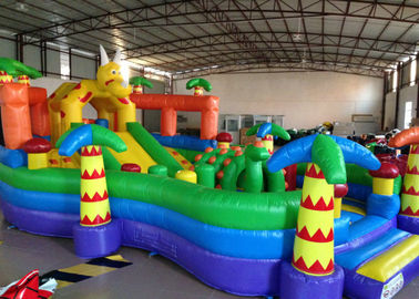Cute inflatable dinosaur fun amusement park for kids inflatable little dino fun city on land