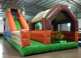 Large Children / Adult Inflatable Fun City 12 X 5 X 5.25m Fire Resistance Customized