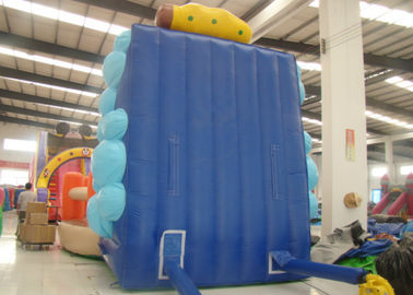 Inflatable Climbing Wall And Slide 5 X 3.8 X 4.5m , Big Blow Up Rock Climbing Wall