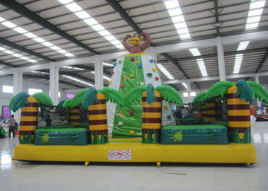 China Kids / Adults Sports Games Inflatable Rock Climbing Wall 7 X 7 X 5m Fire Resistant supplier