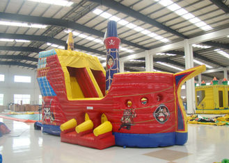 China Outdoor Game Colourful Inflatable Pirate Ship Bouncer House Waterproof 8 X 4 X 5m supplier