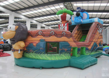 China Elephant Inflatable Pirate Ship Bouncer Animals Pirate Boat Silk Printing hot sale inflatable animals pirate boat supplier