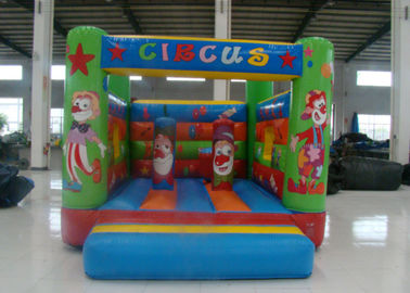 China Amusement Park Inflatable Jump House , Small Indoor Bounce House 3.5 X 4 X 2.5m supplier