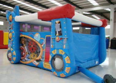 China Robot Design Bounce House With Slide , Commercial Castle Bounce House 5.7 * 4.7 * 3.7 supplier