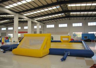Amusment Park Inflatable Soccer Playground bright colour giant Inflatable Football Pitch for adult