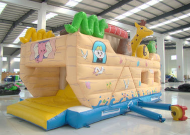 Common Elephant Animals Pirate Ship Inflatable Slide Children cute inflatable Pirate Jump House