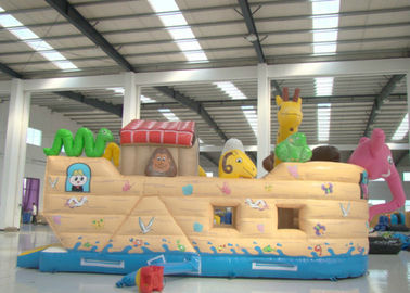 China Common Elephant Animals Pirate Ship Inflatable Slide Children cute inflatable Pirate Jump House supplier