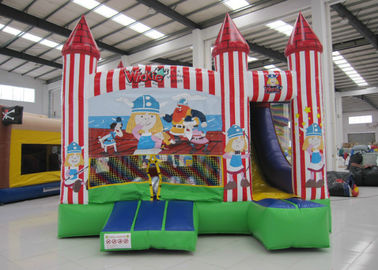 China Colorful Combo Games Inflatable Jump House 0.55mm Pvc Tarpaulin Fireproof Nontoxic supplier