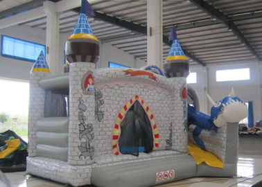 China Digital Printing Dragon Large Bouncy Castle , Waterproof Princess Jumping Castle supplier