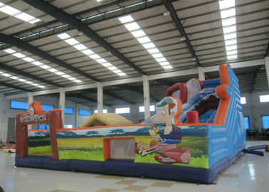 China Colourful Digital Printing Toddler Bounce House , Geological Park Bounce Round Bounce House supplier