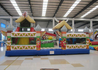 China Indoor Ancient Indian Inflatable Fun City 8 X 6 X 5m Nontoxic Enviroment - Friendly supplier