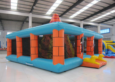 Outdoor Amusment Park Inflatable Rock Climbing Wall 8 X 8m 0.55mm Pvc Tarpaulin