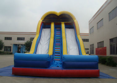 Colourful durable inflatable double dry slide for children and adult  inflatable arch dry slide