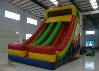 China Spiderman Theme Commercial Inflatable Water Slides 8 X 5 X 7m Enviroment - Friendly supplier