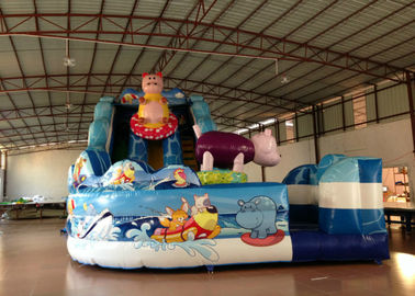 China Amusement Park Custom Made Inflatables Slide High Slide Colorful 6 X 9 X 6m supplier