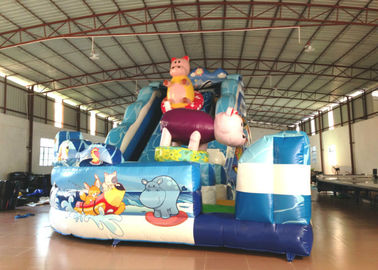 Amusement Park Custom Made Inflatables Slide High Slide Colorful 6 X 9 X 6m