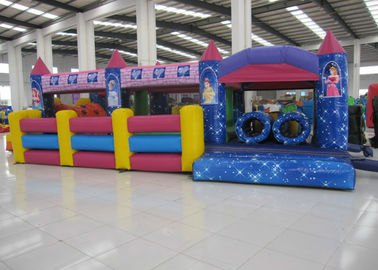 China Commercial Cartoon Inflatable Obstacle Courses Digital Printing 10 X 4m Enviroment - Friendly supplier