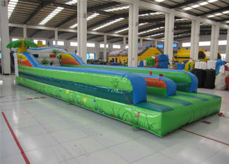 China Attractive Inflatable Bungee Jump / Runway , Kindergarten Baby Bungee Run Bounce House supplier