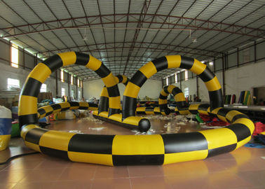 China Zorb Ball Inflatable Quad Track , Customized Kids Toy Cars Blow Up Race Track supplier