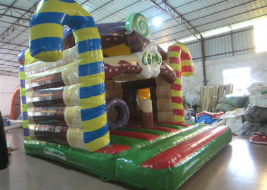 China Custom Christmas Bounce House 4.8 X 5.3m , Commercial Inflatable Christmas House supplier
