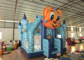 China Cartoon Commercial Bounce House , Attractive Inflatable Bounce House 5 X 5m supplier