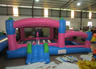 China Kids Outdoor Custom Made Inflatables Bounce House Combo 0.55mm Pvc Tarpaulin supplier